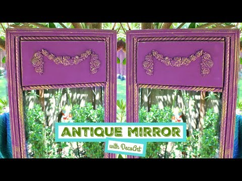 DIY Antique Mirror Makeover
