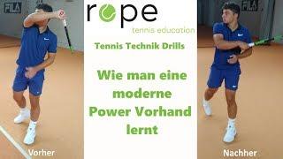 Tennis Vorhand Technik - Wie man eine moderne Power Vorhand lernt
