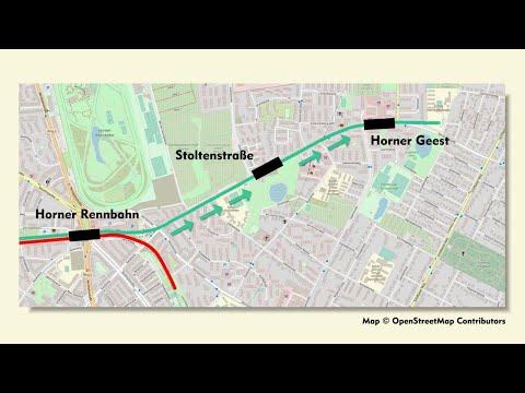 U-Bahn Hamburg: Verlängerung der Linie U 4 auf die Horner Geest – Eine Riesenbaustelle entsteht