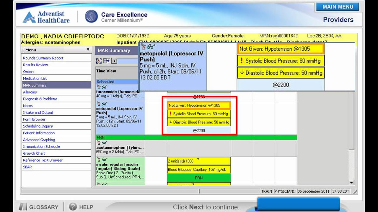Cerner Medication Administration Record Mar Demo