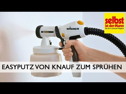 easyputz von knauf zum spr hen youtube. Black Bedroom Furniture Sets. Home Design Ideas