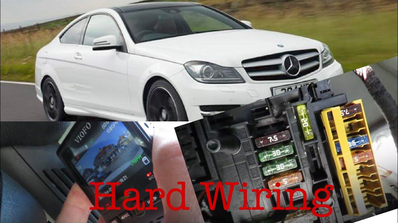 Hard Wire Dash Cam To Mercedes C-Class W204 (Part 1)