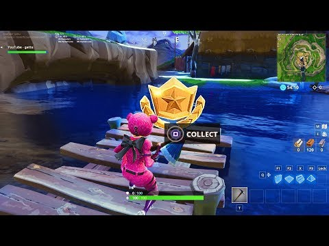 """""""Follow the treasure map found in Snobby Shores"""" LOCATION FORTNITE WEEK 5 SEASON 5 BATTLE STAR"""