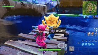 """Follow the treasure map found in Snobby Shores"" LOCATION FORTNITE WEEK 5 SEASON 5 BATTLE STAR"
