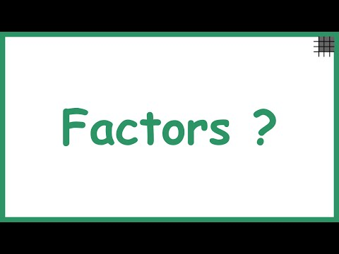What are Factors?