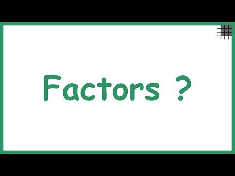 What are Factors? | Factorisation | Don't Memorise