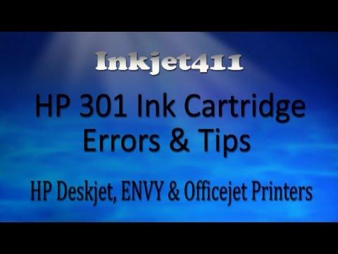hp 301 ink cartridge error - Hp 301 Tri Color Ink Cartridge