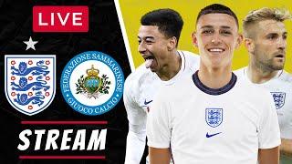 ENGLAND Vs SAN MARINO - LIVE STREAMING - World Cup 2022 Qualifiers - Football Watchalong