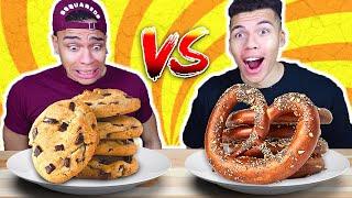 SALZIGES VS SÜßES ESSEN CHALLENGE !!! | Kelvin und Marvin