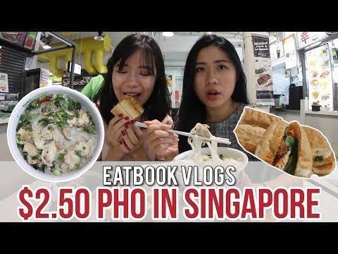 SAIGON FOOD STREET - ONE OF THE CHEAPEST PHO IN SG l Eatbook Vlogs l EP 29
