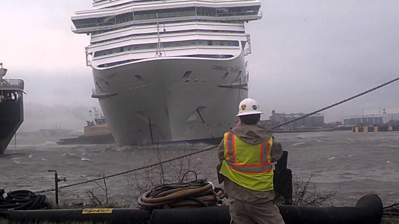 Carnival Triumph Cruise Ship Breaks Free - YouTube