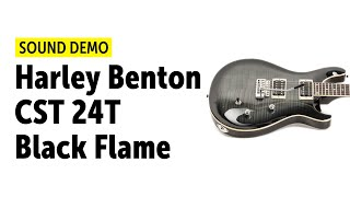 Harley Benton CST 24T Black Flame - Sound Demo (no talking)