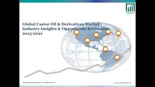 Castor Oil and Derivative Market Size and forecast 2015 to 2021