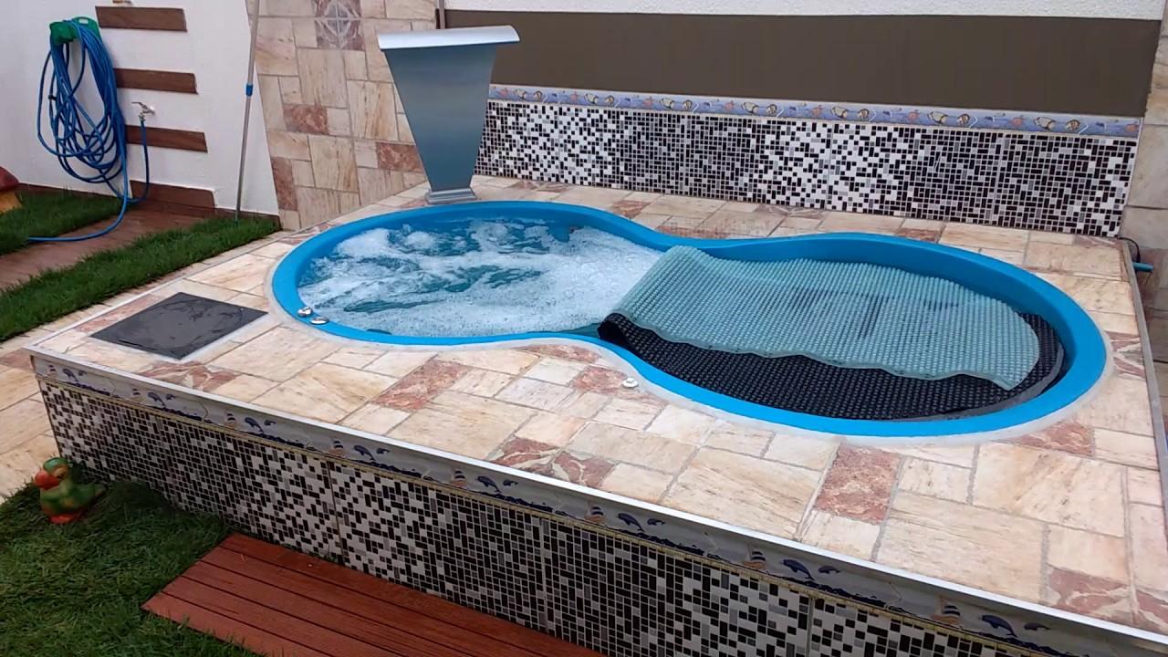 Hidromassagem em piscina pequena youtube for Piscinas pequenas