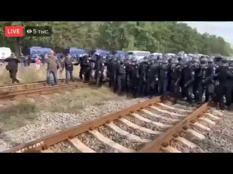 Поліція б'є людей , а потім робить «зачистку» від українців які блокують російське вугілля