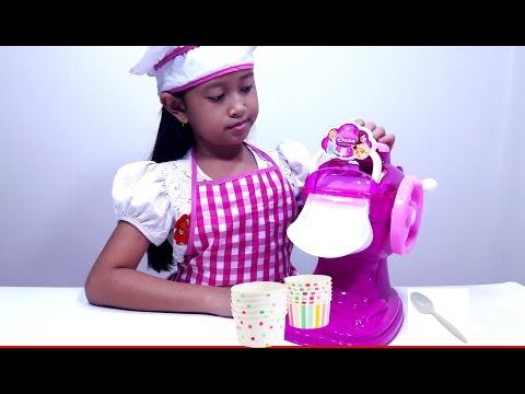 Mainan Membuat ES KRIM Bisa Dimakan Beneran 💖 ICE CREAM MAKER Toys 💖 Let's Play 💖