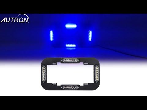"36 LED 37/"" White Flash Traffic Visor Safety Emergency Warn Strobe Work Light Bar"