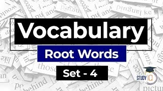 English Vocabulary, Get pro in Vocabulary with ROOT WORDS Set 4 for SBI IBPS RBI