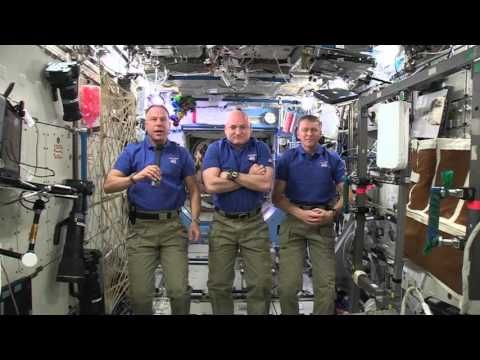 Happy Holidays from the International Space Station Crew