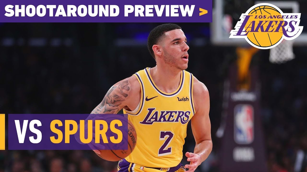 c90055d5f Shootaround Preview  Spurs (10 22 18). Los Angeles Lakers