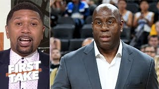 Magic Johnson left Lakers because \'he wasn\'t able to finish the job\' - Jalen Rose | First Take