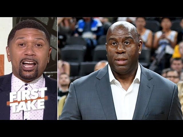 Magic Johnson left Lakers because he wasnt able to finish the job - Jalen Rose | First Take