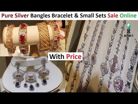 Bangles Bracelet And Small Sets In Silver Jewelry With Price || Sale Online