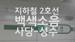 서울 지하철 2호선 백색소음 ASMR(사당-성수 구간)