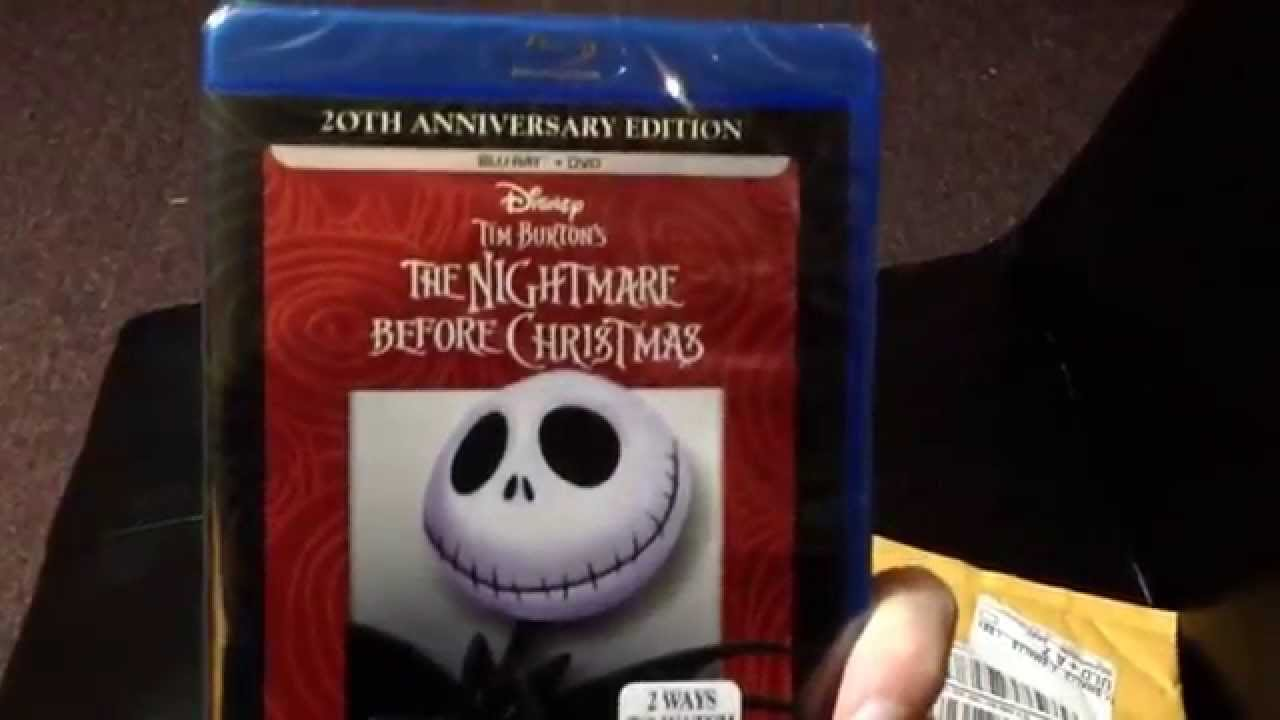 Unboxing The nightmare before Christmas Blu-ray - YouTube
