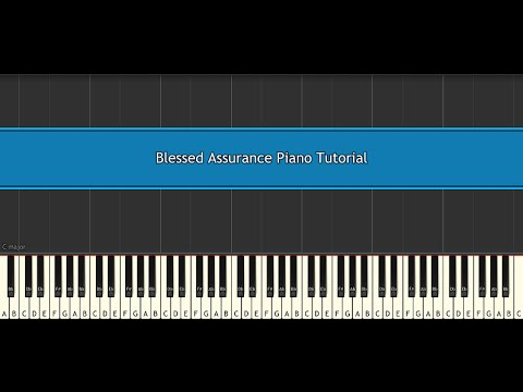 Blessed Assurance Piano Tutorial - Traditional (Synthesia)