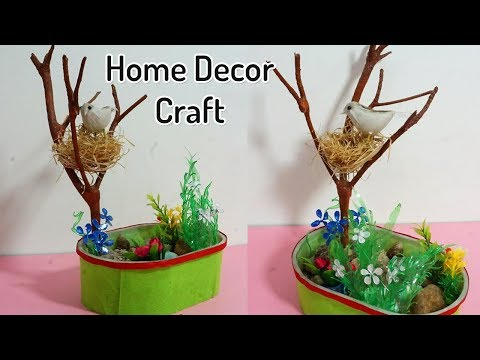 Beautiful DIY Home Decoration from Waste Materials | Birds Nest Home Decor | Recycled Craft Idea