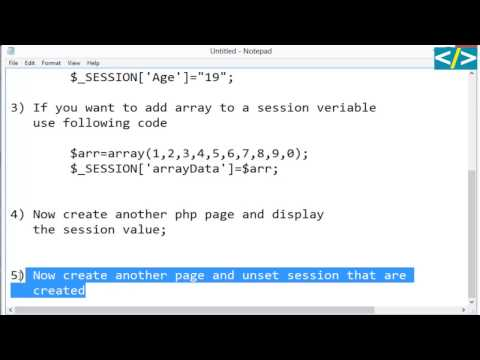 PHP:How To Create Session Display And Unset Session In Php