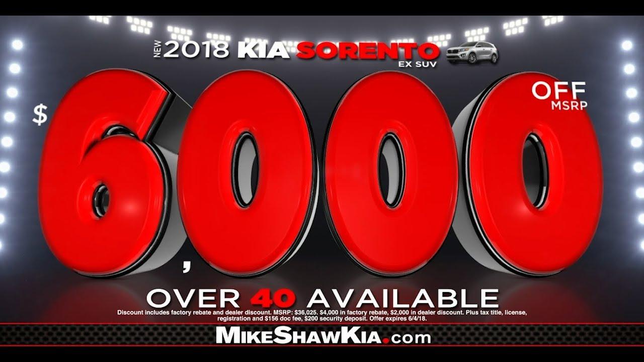 Shaw Selldown Going On NOW At Mike Shaw Kia! Mike Shaw KIA Corpus Christi  ...
