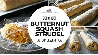 BUTTERNUT SQUASH STRUDEL recipe | Bundevara!