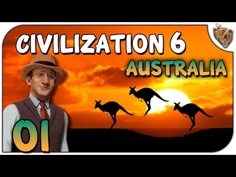 "Civilization 6 Austrália Mapa Mundi #01 ""Amigos Cangurus"" - Vamos Jogar Gameplay Português PT-BR"