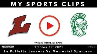 #LaFolletteLancers Vs #MemorialSpartans #VarsityFootball
