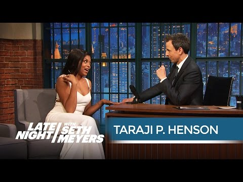 Taraji P. Henson Hears Seth Out on His Dream Empire Role - Late Night with Seth Meyers