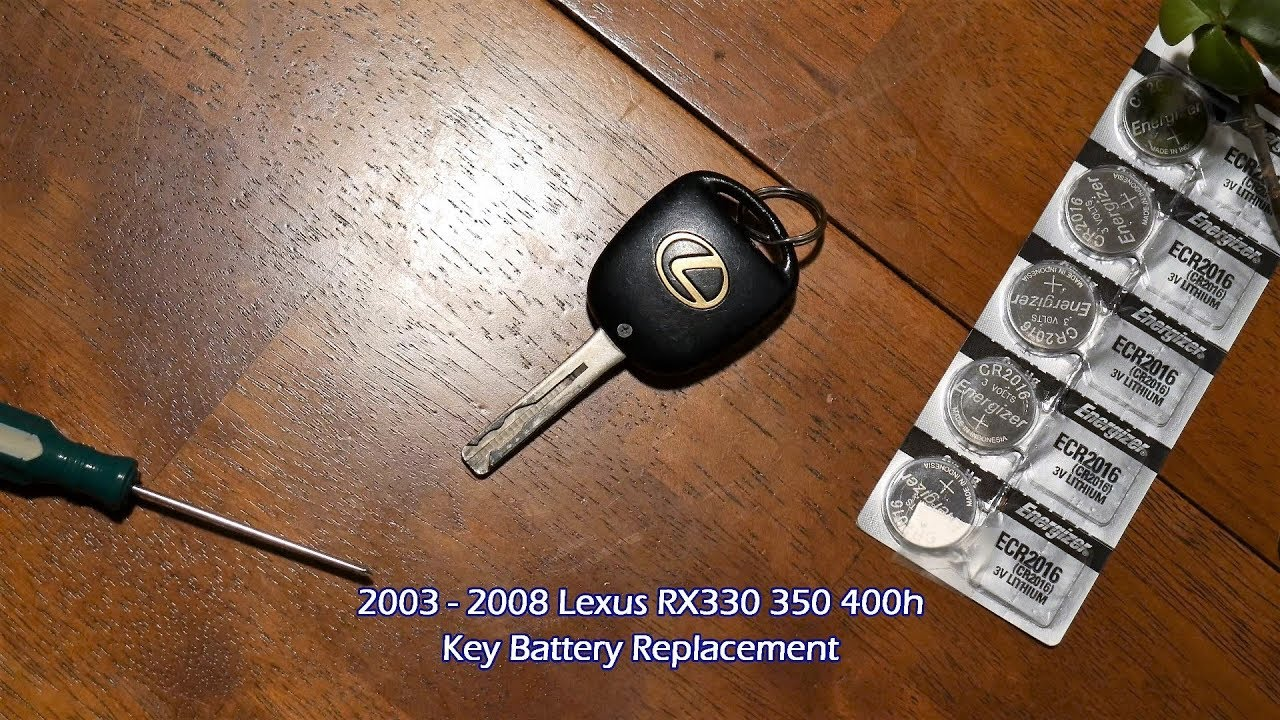 Lexus Rx Key Battery Replacement Quick Easy In 4k Rx330 Rx350 Rx400h