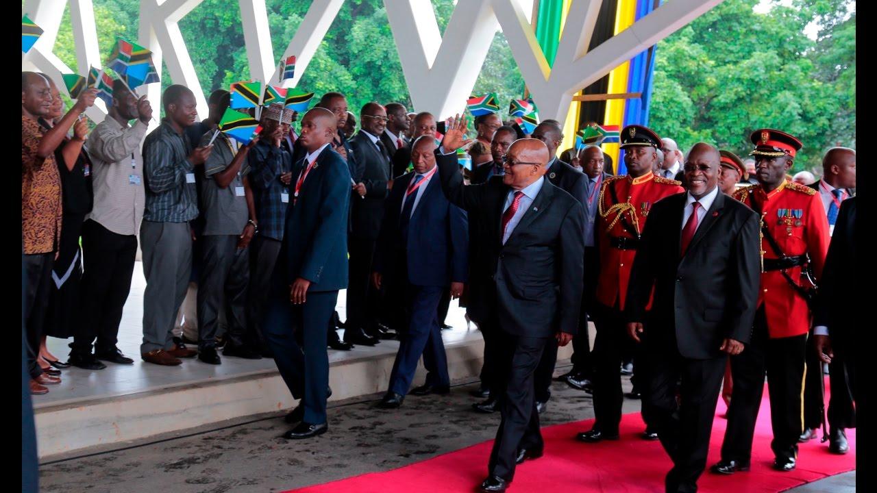 LIVE Kutoka Ikulu: Dhifa ya Taifa ya Rais Jacob Zuma - YouTube