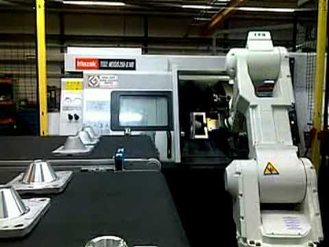 Rfa Kawasaki Robotloader With Rfa Vision Loading Mazak