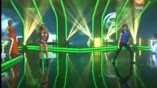 El Gran Show: Sheyla Rojas deslumbró en la pista con un sexy traje