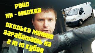 Грузоперевозки Нижний Новгород - Москва   Газель 1,5т 10м3   Сколько можно заработать за рейс?
