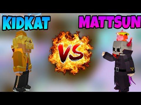 Blockman Go: Bed Wars: 1v1 DUEL MATTSUN Vs KidKatBMGO In Blockman Go Bedwars (1.10.43)