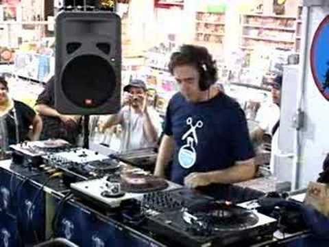"""Cut Chemist- Amoeba In Store """"The Audience's Listening"""""""