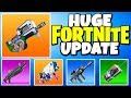 """New """"P90"""" SMG in FORTNITE + C4, EGG LAUNCHER & MORE (HUGE PATCH UPDATE)"""