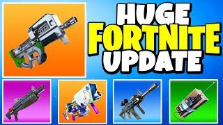 """New """"P90"""" SMG in FORTNITE + C4, EGG LAUNCHER & MORE (HUGE PATCH UPDATE)   Chaos"""