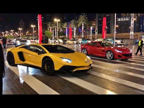Supercars of Dubai 2020 | A Day Of Car Spotting | Brown Ferrari, Aventador SV, McLaren 570S