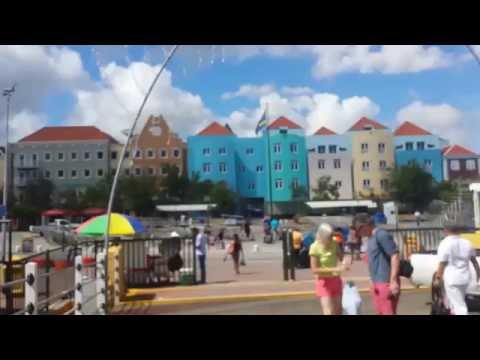 Willemstad, Curacao. Wilemstad Harbour and City Centre