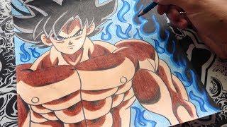 como dibujar a goku limit breaker | how to draw goku limit breaker | Dragon ball super