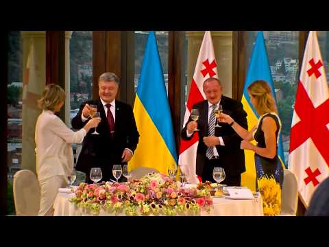 Bilateral dinner of presidents of Georgia and Ukraine in Tbilisi
